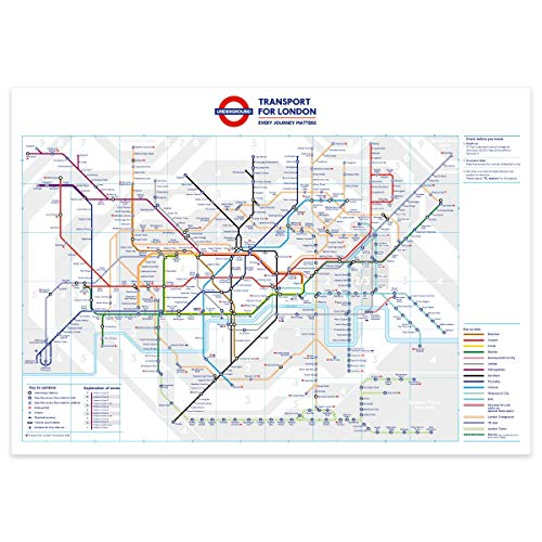 stika.co Standard London Underground Tube Station Map Poster - November 2018, A1 841x594mm (Best London Underground Stations)