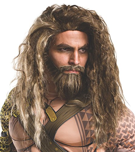 Rubie's Men's Batman V Superman: Dawn Of Justice Aquaman Beard and Wig, As Shown, One Size
