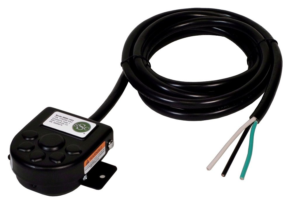 SSC Controls B850-1502 Foot Switch with Mounting Plate, Momentary, Single Pedal, 8-ft Cable with Leads by SSC Controls (Image #2)