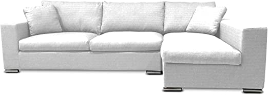 KMP Furniture Coleen Sectional Sofa & Right Chaise Lounge - White