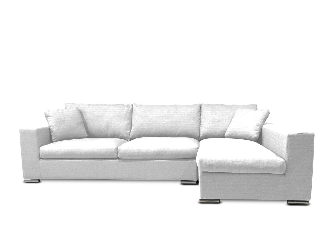 KMP Furniture Coleen Sectional Sofa Right Chaise Lounge – White