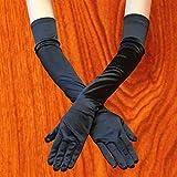 Fashion 23'' Women Arm Long Satin BLACK Gloves Evening Party Bridal Wedding Opera