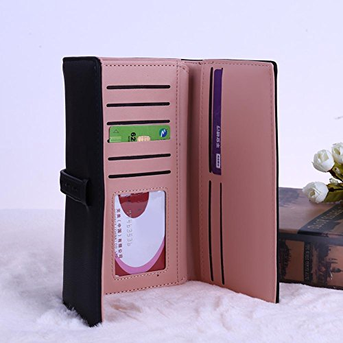 Longue cartes Purse Crédit La Cabina Noir Porté à monnaie Main Porte Main Porte de Femmes Money Fille Sac Lisse Sac ID 8PXPwqC