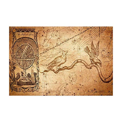 GoHeBe Owl Eagle on Grungy Rustic Nautical Map Bath for sale  Delivered anywhere in Canada