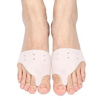 HRRH Dedo Valgus Correction Separator Protector de juanete de silicona Harmmer Toe Spacer para el antepié Cojín Foot Rubbing Pads Hallux Valgus Pain Relief ...
