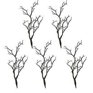 MagiDeal 5PCS Plastic Plant Tree Branches Simulation Twig Stem Home Wedding DIY Decor 3