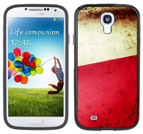 Poland Flag Handmade Samsung Galaxy S4 Black Bumper Hard Plastic Case