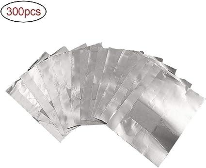 Papel de aluminio quitaesmalte de uñas, 300 unidades, respetuoso con el medio ambiente, gel removedor de esmalte de uñas, láminas de remojo de gel con almohadilla de algodón para eliminación de gel:
