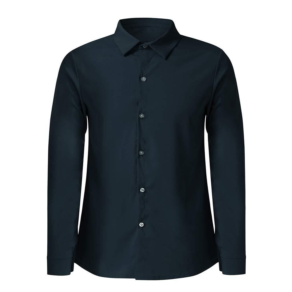 Amazon.com: Iuhan Camisas Vestido Casual Hombre Botones Down ...