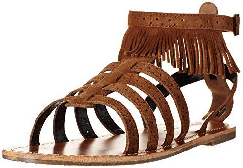 Pepe Jeans Jane Fringes - Sandalias de Gladiador Mujer Braun (877NUT BROWN)
