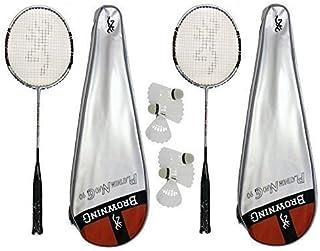 Browning Lot de 2 raquettes de Badminton Platinum Nano 6 volants Carlton 510 90