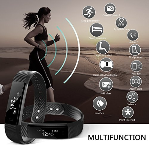 NewYouDirect Fitness Tracker, Activity Tracker Pedometer Waterproof Sports Smart Watch with Sleep Monitor Calorie/Step Counter for iPhone 4 5 5s 6 6s 7 iPhone X Samsung LG etc for Women Men Kids