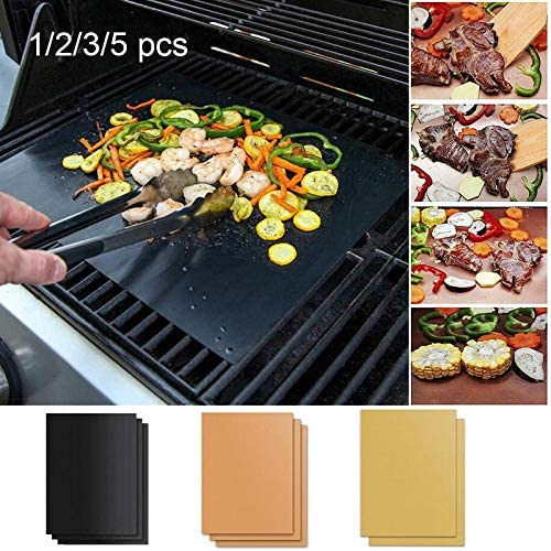 showsing Tapis pour Griller Barbecue Plaque de Barbecue et Pâtisserie en Silicone 3Pcs-3Colors