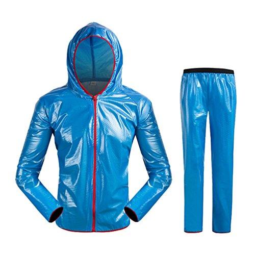 Giacchetto Antipioggia Impermeabile Giubbotto Set Bici Giacca Blu Antiacqua WanYang Antipioggia Pantaloni IC7SqIw