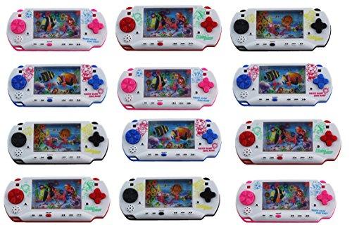 Set of 12 Water Rings Kid's Toy Handheld  Water Game (Colors May Vary)