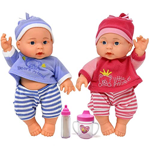 Twin Baby Dolls, 9 Inch Twin Dolls All Vinyl with Baby for sale  Delivered anywhere in USA
