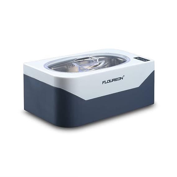Floureon Ultraschallreiniger Ultraschallreinigungsgerät Ultraschallgerät für Brillen, Ketten, Ohrringen, Zahnersatz Edelstahl