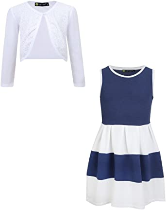 LOTMART Girls Dress Skater Bundle with Bolero