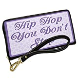 Wallet Clutch Hip Hop You Don't Stop Purple Easter Trellis with Removable Wristlet Strap Neonblond