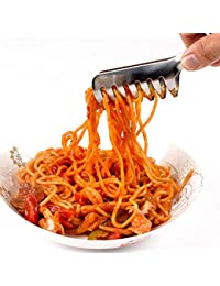 Bargain Happy Will Stainless Spaghetti Tongs BBQ Tongs Pasta Clip Clamp Cooking Tools Kitchen with a Stylus occupation