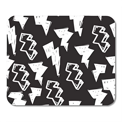 Semtomn Gaming Mouse Pad Tags Black and White Graffiti in Hip Hop Street 9.5