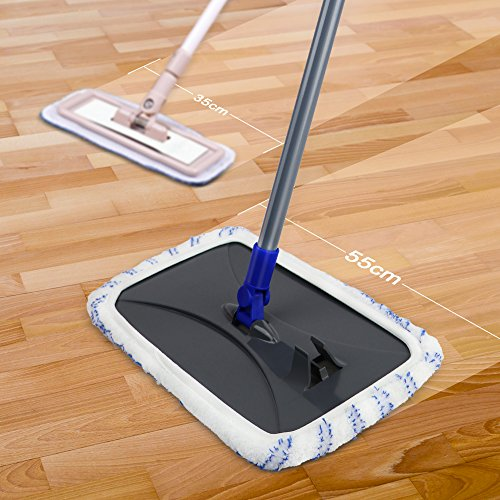 Mastertop Large Surface Microfiber Flat Mop 360 Degree Used Wet and Dry with Adjustable Handle for Hardwood Floors by Mastertop (Image #2)