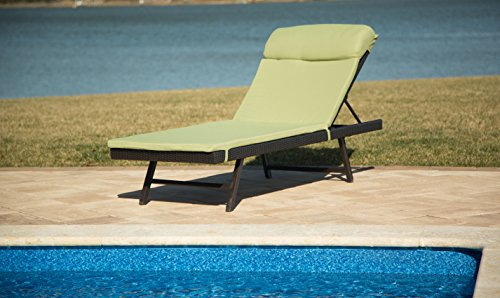 Hanover Orleans 2-Piece Wicker Chaise Lounge Chair Set Bronze/Avocado Green ORLEANS2PCCHS