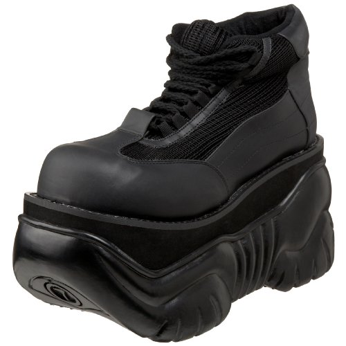 [Pleaser Men's Boxer-01 Fashion Sneaker,Black,10 M US] (Halloween Costumes Platform Shoes)