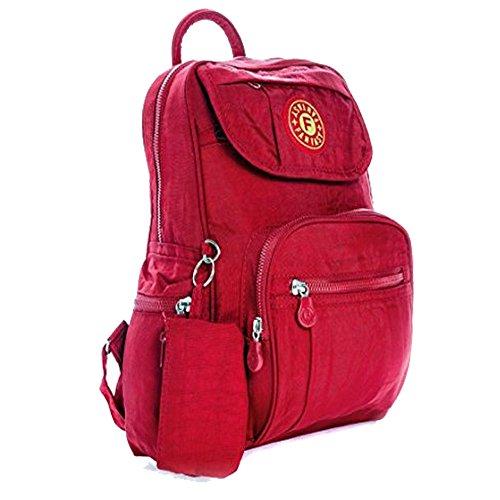 ydezire® Unisex Mini mochila mochila infantil/adolescente mochila escolar colegio bolsa de hombro para mujer Red/013k
