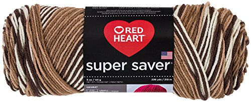 Red Heart  Super Saver Economy Yarn, Shaded Browns - Prints Brown