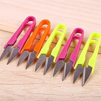 H-Honetuk 1Pc Craft Sewing Stainless Steel Stitch U-Shape Use Scissors Snip Thread Cut Line Trimming Nipper Essential Cutter Cross