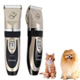Kobwa Dogs' and Cats' Rechargeable Electric Pet Shaver, Low Noise, Rose Gold
