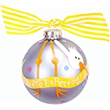 Coton Colors We're Expecting Stork Glass Ornament