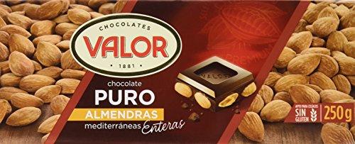 Chocolates Valor – Choholate puro con almendras enteras – 250 g