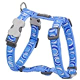 Red Dingo Desinger Dog Harness, Circadelic Mid Blue (25mm x (Neck: 46-76cm / Body 56-80cm) L
