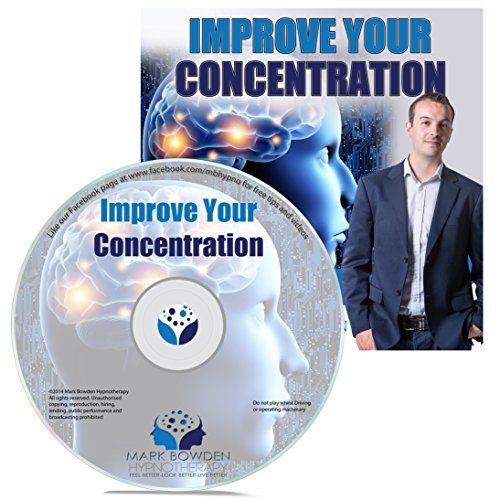 Improve Your Concentration Self Hypnosis CD - Hypnotherapy CD for Improving Focus and to Improve Concentration. Never lose Focus