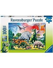 Ravensburger 10957-100 bitar XXL Barnpussel från 6 år - perfekt ålderspassning - Bland dinosaurierna - en rolig aktivitet för familjen och barnen