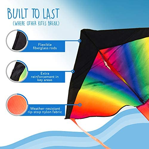 Replacement Rods for Rainbow Delta Kite by Impresa Products