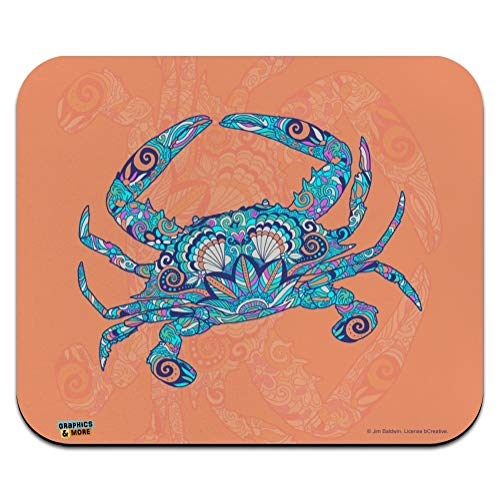 (Mosaic Crab Low Profile Thin Mouse Pad Mousepad)