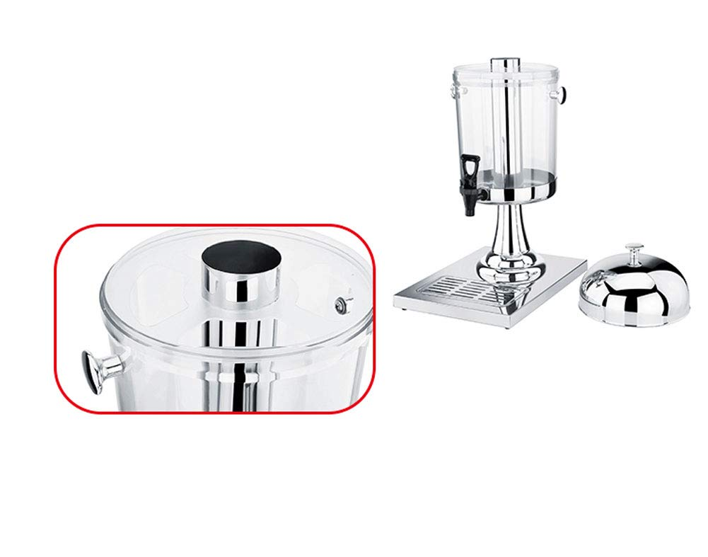 with Stainless Steel Tap and Base Aprilhp Double Head Water Beverage Dispenser Clear Suitable for Summer Parties