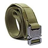 quick belt system - YISIBO Tactical Belt Heavy Duty Belt Military Style Webbing Nylon Riggers Belt with Quick-Release Metal Buckle Belt 1.5'' belt