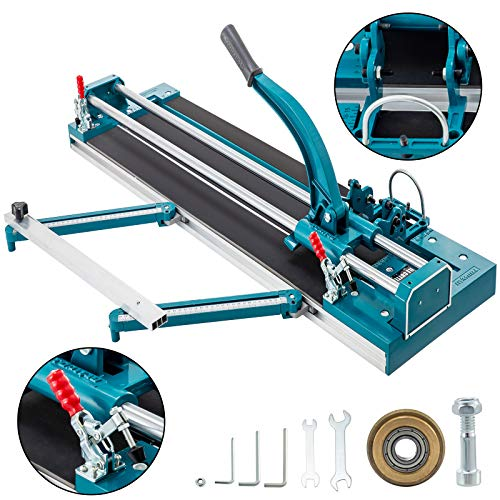 Mophorn 47Inch/1200mm Tile Cutter Double Rail Manual Tile Cutter 3/5 in Cap w/Precise Laser Positioning Manual Tile Cutter Tools for Precision Cutting (47 inch)