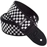 Dunlop D3831BK Black and White Checkered Strap