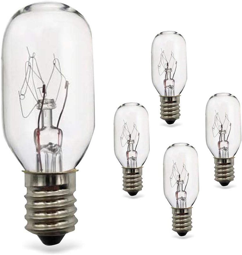 5 Pack 25Watt Himalayan Salt Lamp Bulbs E12 Socket Incandescent Bulbs Salt Lamp Replacement Bulbs