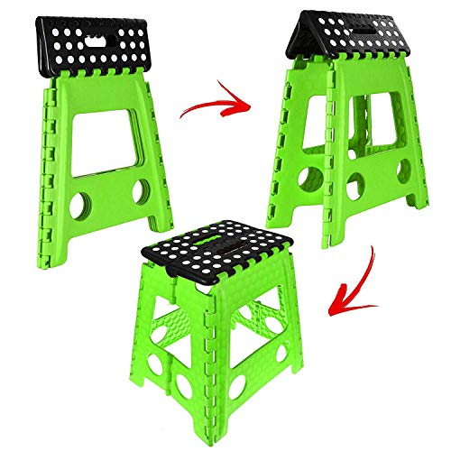 Amazing One Step Folding Plastic Stool Portable Fold Up Footstool Ncnpc Chair Design For Home Ncnpcorg
