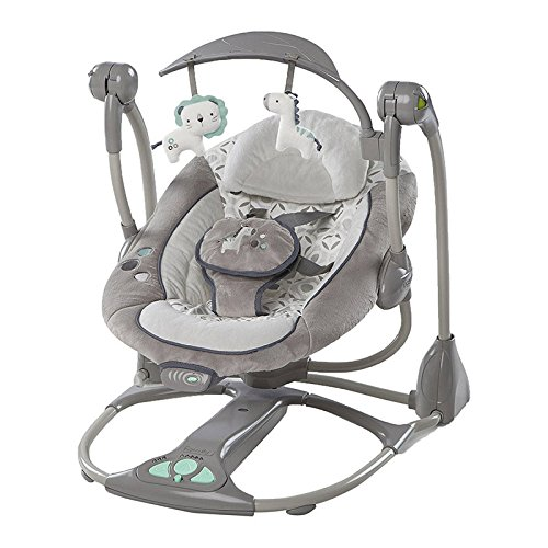 LZTET Chair Bouncers Reclining Chairs Soothing Vibration Baby Rocking Chair Multifunctional Music Electric Swing Portable Folding Baby Comfort Rocking Chair Shaker,Grey