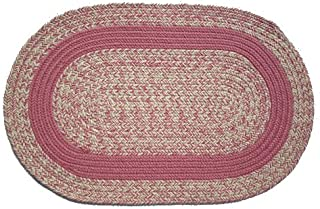 product image for Oval Braided Rug (2'x3'): Oatmeal Rose - Rose Band