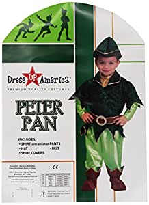 Dress Up America - Peter Pan deluxe, disfraz para niños, 1-2 años (437-T2)