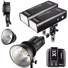 Godox 2pcs AD200 200Ws 2.4G TTL Flash Strobe Kit + X1T-S + AD-B2 + Bowens Reflector w/ EACHSHOT Cleaning Cloth for Fujifilm