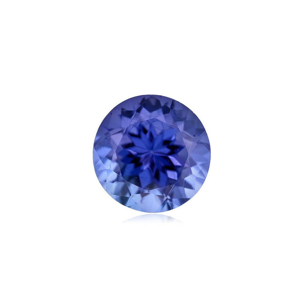 Mysticdrop 1.07-1.22 Cts of 6.5 mm AAA Round Arusha Tanzanite (1 pc) Loose Gemstone by Mysticdrop (Image #1)